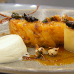 Marcus Wareing caramelised pineapple with caramel nut garnish  recipe on MasterChef: The Professionals