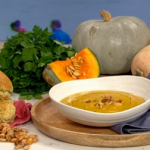 Isaac Carew pumpkin soup recipe on This Morning