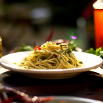 Gino's spaghetti with olive oil, garlic, chilli and parsley recipe on Italian Coastal Escape