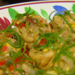 Kirstie Allsopp and Colin Brown saltfish and ackee dumplings recipe on Kirstie's Handmade Christmas