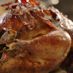 Jamie Oliver cranberry Christmas turkey with bacon and thyme recipe