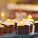 Mary Berry treacle spice tray bake recipe on Mary Berry's Country House at Christmas