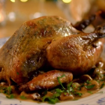 Catherine's guinea fowl in prosecco recipe on The Best Christmas Food Ever