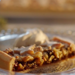 Mary Berry sweet mincemeat with marzipan tart recipe on Mary Berry's Christmas Party