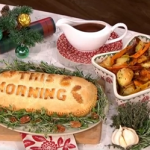 Henry and Ian's mushroom wellington with red wine gravy recipe for a vegetarian Christmas lunch on This Morning