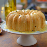 Nadiya Hussain passion fruit bundt recipe on Nadiya's Party Feasts
