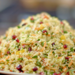 Nadiya Hussain pomegranate and parsley tabbouleh recipe on Nadiya's Party Feasts