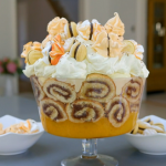 Gilly's spiced chocolate orange trifle recipe on Nadiya's Party Feasts