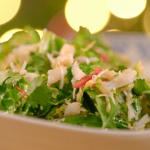 Paul Ainsworth sprouts with crab and chilli recipe on the Best Christmas Food Ever