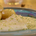 Paul Ainsworth turbot in a champagne butter sauce on The Best Christmas Food Evera