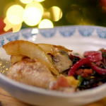 Catherine's chicken and pear cider casserole recipe on The Best Christmas Food Ever