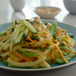 Tom Kerridge peanut chicken stir-fry noodles recipe on Tom Kerridge's Fresh Start