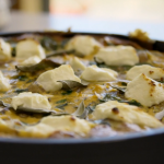 Tom Kerridge new potato with spinach and goats' cheese frittata recipe on Tom Kerridge's Fresh Start