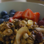 Tom Kerridge homemade granola with maple syrup and runny honey recipe on Tom Kerridge's Fresh Start