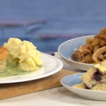Phil Vickery steamed jam roly poly recipe for King Harry's dream dinner on This Morning