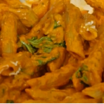 Tom Kerridge pasta with red pepper sauce recipe on Tom Kerridge's Fresh Start