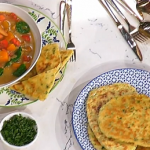 Ainsley's Caribbean vegetable soup with flatbreads recipe on This Morning