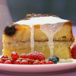 Simon Rimmer Pineapple Upside Down Cheesecake recipe on Sunday Brunch