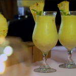 Ainsley Harriott coconut with pineapple, mango and mint cocktail recipe on Ainsley's Caribbean Kitchen