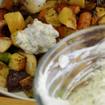 Tom Kerridge Russian salad with roasted root vegetables recipe on Tom Kerridge's Fresh Start