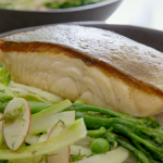 Tom Kerridge warm crispy salmon salad recipe on Tom Kerridge's Fresh Start