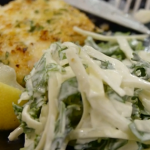 Tom Kerridge turkey schnitzel  with green slaw recipe on Tom Kerridge's Fresh Start