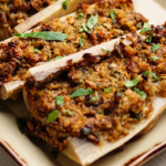 Simon Rimmer Baked Stuffed Bone Marrow recipe on Sunday Brunch