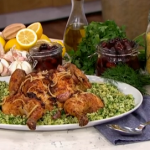 Clodagh Mckenna chicken with preserved lemon and bulgur wheat salad recipe on This Morning