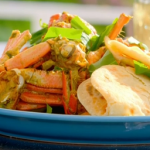 Ainsley Harriott Tobago crab curry with roti recipe on Ainsley's Caribbean Kitchen