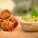 Ainsley Harriott onion okra bhaji with mango chutney recipe on Ainsley's Caribbean Kitchen