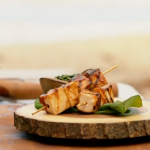 Ainsley Harriott grilled glazed tamarind tofu with callaloo pesto recipe on Ainsley's Caribbean Kitchen