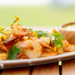 Ainsley Harriott chargrilled citrus prawns with a hot pepper sauce recipe on Ainsley's Caribbean Kitchen