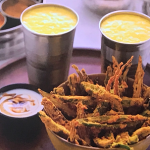 Parveen Ashraf crispy fried okra with mango lassi recipe on Parveen's Indian Kitchen
