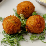 Simon Rimmer Lancashire Cheese and Mushy Pea Croquettes recipe on Sunday Brunch