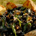 James Martin mussels with cider and bacon recipe on James Martin's Great British Adventure