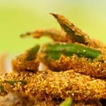 Ainsley Harriott spice coated cornmeal okra recipe on Ainsley's Caribbean Kitchen