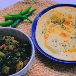 Parveen Ashraf saag aloo with naan bread recipe on Parveen's Indian Kitchen
