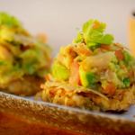 Ainsley Harriott green banana rosti with saltfish guacamole recipe on Ainsley's Caribbean Kitchen