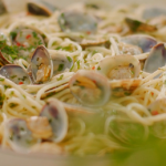 Mary Berry spaghetti vongole with clams recipe on Mary Berry's Quick Cooking