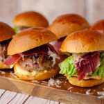 Jose Pizarro Iberian Pork Burger with Allioli recipe on Sunday Brunch