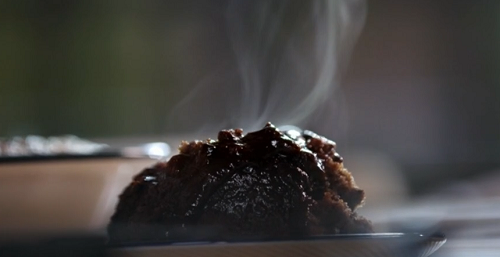 John Torode and Lisa Faulkner self saucing chocolate pudding