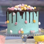Juliet Sear eggs-tra special Easter Cake recipe on This Morning
