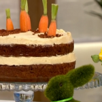 Juliet Sears carrot patch cake recipe for Easter on This Morning