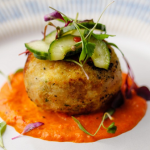 Simon Rimmer Crab and Celeriac Fish Cakes recipe on Sunday Brunch