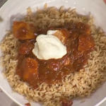 Ronnie O'Sullivan chicken curry with brown rice recipe on This Morning