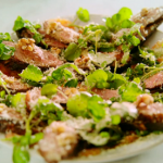 Jamie Oliver duck and orange salad with a French baguette recipe on Jamie's Quick and Easy Food