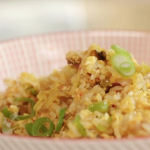 John Torode fried rice with kimchi and bacon recipe on John and Lisa's Weekend Kitchen