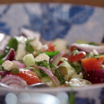 John Torode Greek salad with feta cheese recipe John and Lisa's Weekend Kitchen
