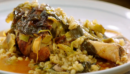 Jamie Oliver Ale And Barley Lamb Shanks With Leeks Recipe On Jamie S Quick And Easy Food The