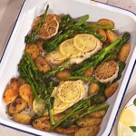 Davina McCall one pan lemon chicken recipe on This Morning